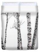 White Birches Duvet Cover