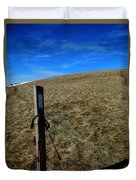 Appalachian Trail White Blaze Post Duvet Cover
