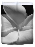 White Bloom B W Duvet Cover