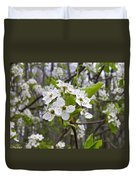 White Blooms Duvet Cover