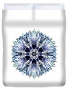 Blue Globe Thistle I Flower Mandala White Duvet Cover