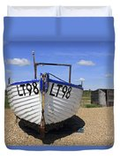 White Boat Duvet Cover