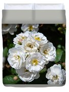 White Bouquet Duvet Cover