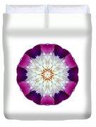 Bowl Of Beauty Peony II Flower Mandala White Duvet Cover