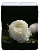 White Buttercup - Ranunculus Duvet Cover