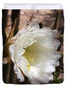 White Cactus Bloom Duvet Cover