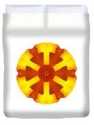 California Poppy I Flower Mandala White Duvet Cover