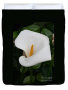 White Calla Lilly Duvet Cover