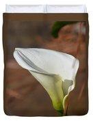 White Calla Lily Duvet Cover