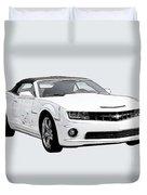 White Camaro Duvet Cover