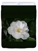 Snow White Camellia Duvet Cover
