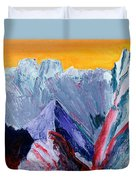 White Canyon Duvet Cover