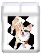 White Chihuahua - Pistachio Duvet Cover