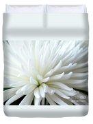 White Chrysanthemum Duvet Cover