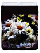 White Chrysanthemum Duvet Cover