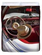 White Classic Mercedes Benz 230 Sl Duvet Cover