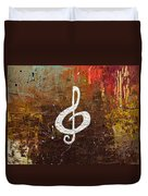 White Clef Duvet Cover