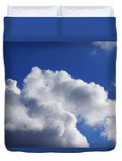 White Clouds Art Prints Blue Sky Duvet Cover