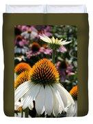 White Cone Flower Duvet Cover