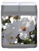 White Cordia Duvet Cover