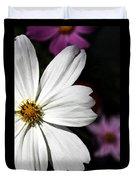 White Coreopsis Duvet Cover
