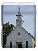 White Country Church Series Photo A Duvet Cover