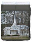 White Country Church Series Photo B Duvet Cover