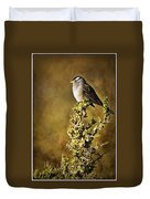 White-crowned Sparrow Duvet Cover