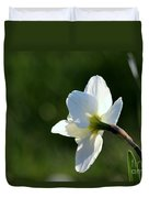 White Daffodil Rear Profile Duvet Cover