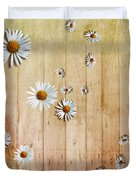 White Daisies Duvet Cover by David Ridley