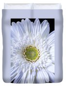White Daisy Close Up Duvet Cover