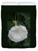 White Datura Duvet Cover