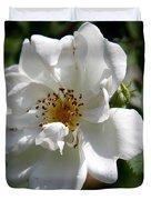 White Dog Rose Duvet Cover