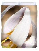 White Dog Tooth Violet Duvet Cover