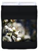 White Dogwood Flowers Duvet Cover
