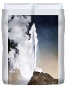 White Dome Geyser Yellowstone Np Duvet Cover