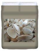 White Double Ark Shells Duvet Cover