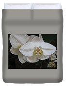 White Dream Orchid Duvet Cover