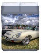 White E-type Duvet Cover