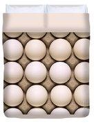 White Eggs In Carton Duvet Cover