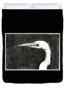 White Egret Art - The Great One - By Sharon Cummings Duvet Cover
