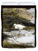 White Egret Duvet Cover