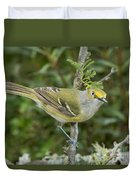 White-eyed Vireo Duvet Cover