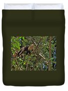White-faced Capuchin Monkey In Manuel Antonio National Preserve-costa Rica Duvet Cover
