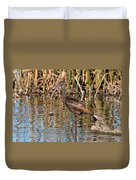 White-faced Ibis In The Wetlands Duvet Cover
