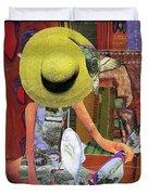 The Green Hat Duvet Cover