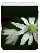 White Flannel Flowers Duvet Cover