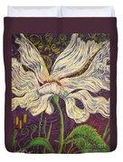 White Flower Series 6 Duvet Cover
