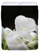 White Flowers 3 Duvet Cover
