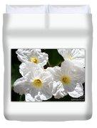 White Flowers In The Desert Duvet Cover